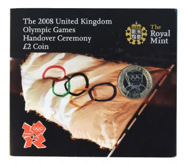 2008 £2 Handover Ceremony Brilliant Uncirculated pack